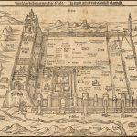 Античная овсяная карта 1581 года с изображением Иерусалима