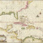 Декоративная и важная морская карта, показывающая Флориду, побережье Мексиканского залива, Карибский бассейн, Центральную Америку и регион к югу от устья реки Делавэр