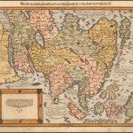 Декоративный пример второй карты Азии Себастьяна Мюнстера, впервые опубликованной в 1588 году
