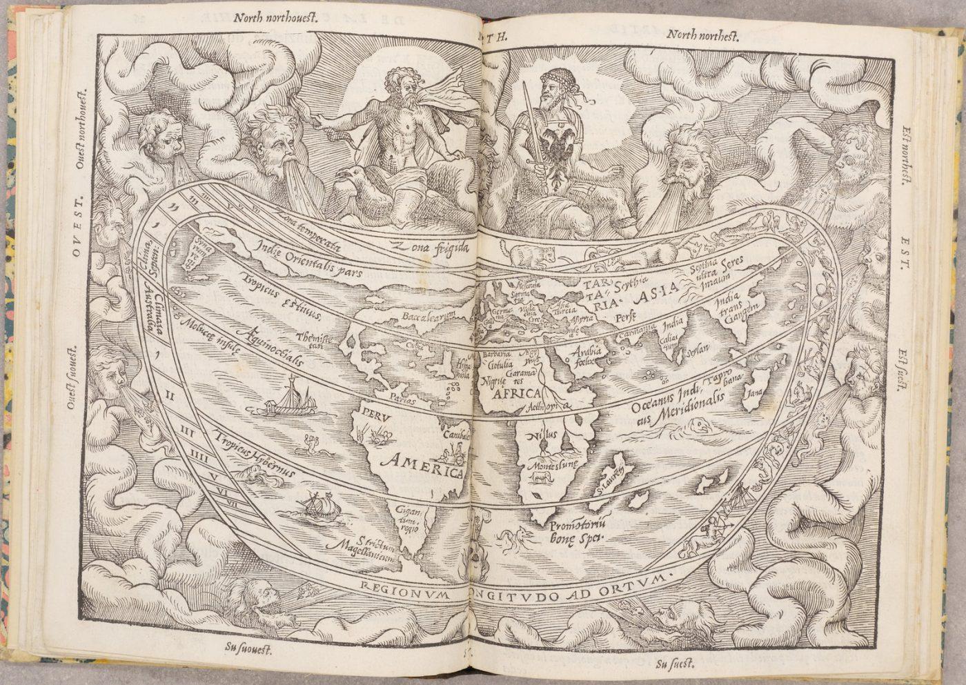 """Французскоязычное парижское издание """"Космографии"""" Питера Апиана 1553 года, которое было впервые опубликовано в 1524 году"""