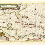 Карта Карибского бассейна Блау, основанная на карте Герритца и его путешествии