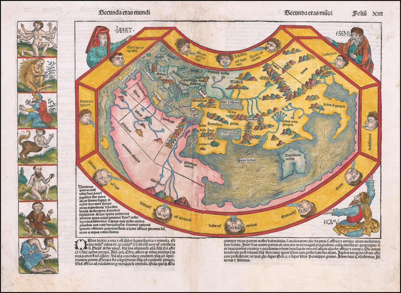 Карта мира времен Колумба
