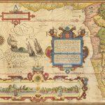 Карта Южной и Западной Африки XVI века из влиятельного путеводителя Линсхотена