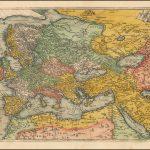 Настоящая картографическая редкость - раздел карт Европы, Персии и Ближнего Востока, вероятно, из утраченной настенной карты мира 16 века