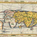 Одна из самых ранних доступных современных карт мира с названием Америки