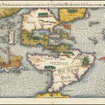Первая печатная карта Американского континента