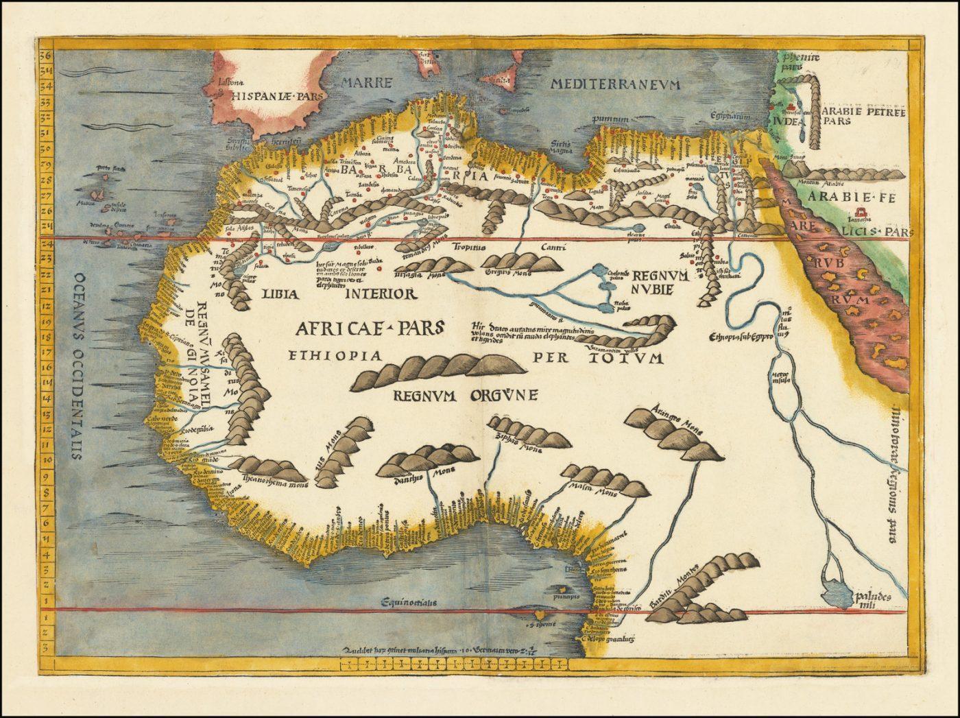 Первая современная карта Северной части Африки