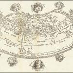 Поразительная Птолемеевская карта мира с характерными головками ветров