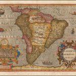 Прекрасный пример одной из самых ранних доступных декоративных карт Южноамериканского континента от Джодока Хондиуса