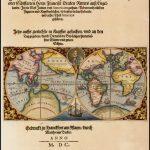 Прекрасный пример сокращения Теодором де Бри бортовой карты Джодока Хондиуса, иллюстрирующей кругосветное плавание сэра Фрэнсиса Дрейка в 1577-1580 годах