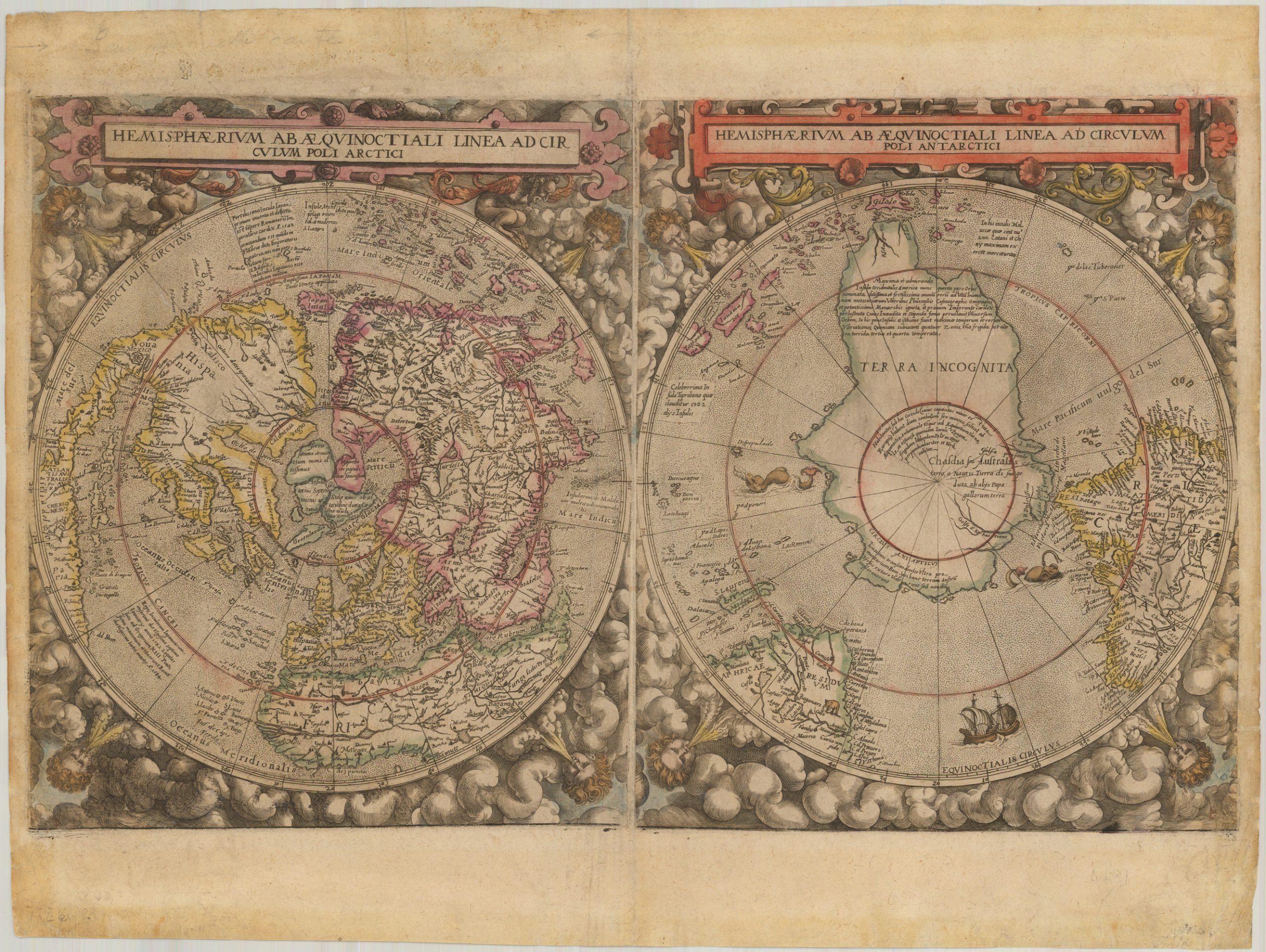 Ранее не записанная карта мира от De Jode