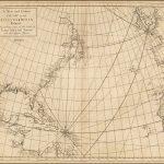 Редкая карта Атлантики из влиятельного Атласа