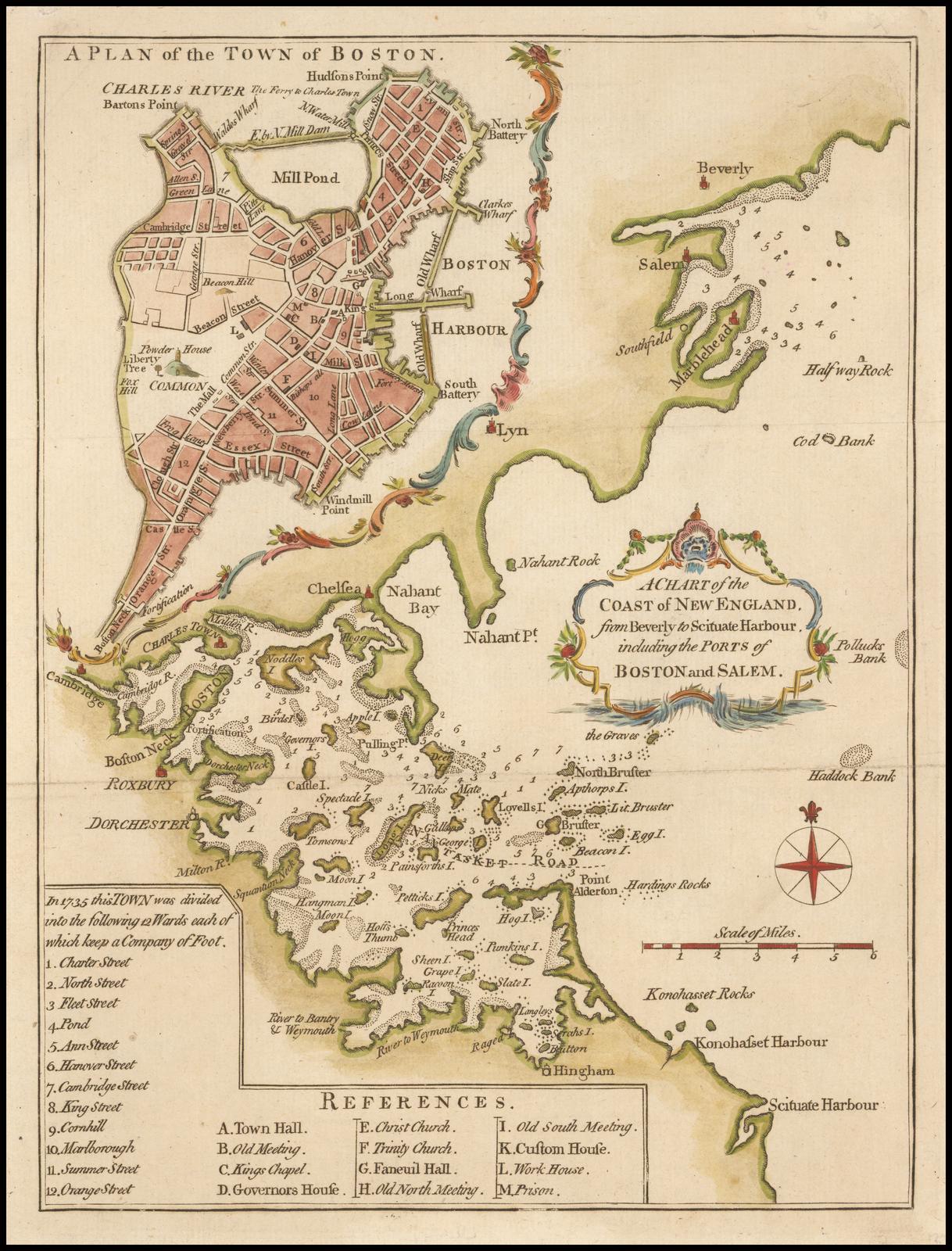 Редкая лондонская карта Лоджа с изображением Американской революции