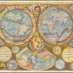 Редкая отдельно изданная карта мира Джузеппе Розаччо, издателя самой большой карты мира 16-го века