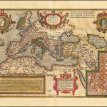 Старая цветная карта Римской Империи Абрахама Ортелиуса