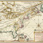 Старинная карта 18-го века восточной части Соединенных Штатов и Канады, из атласа де Фера Кюри