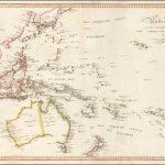 Старинная карта Австралии, Океании и Юго-Восточной Азии, составленная Молло, 1807 год