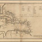 Второе издание карты Флориды и Карибского бассейна Эрреры