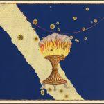 Яркий полноцветный пример Небесной карты Байера созвездия Ара 1603 г