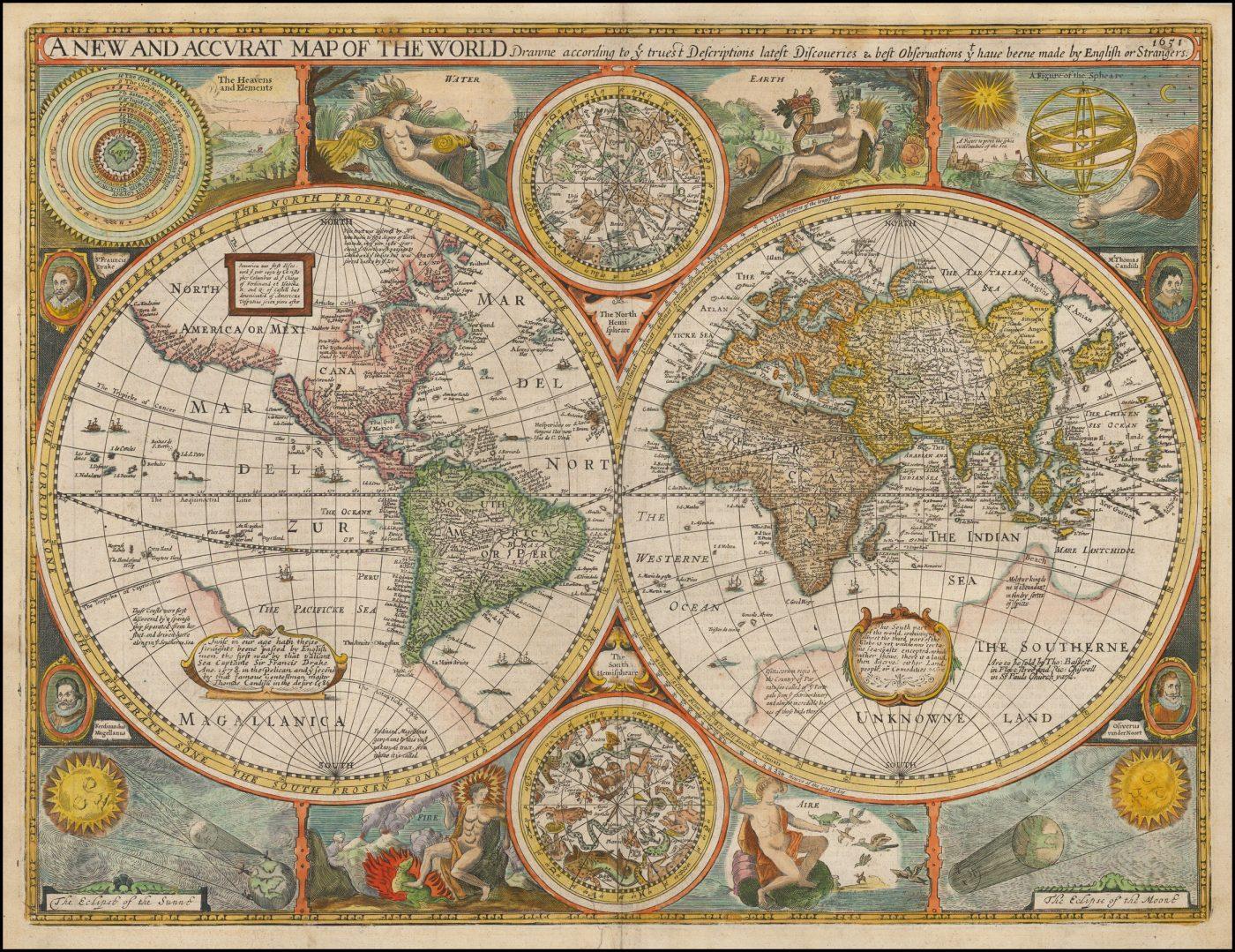 Знаменитая карта мира Джона Спида