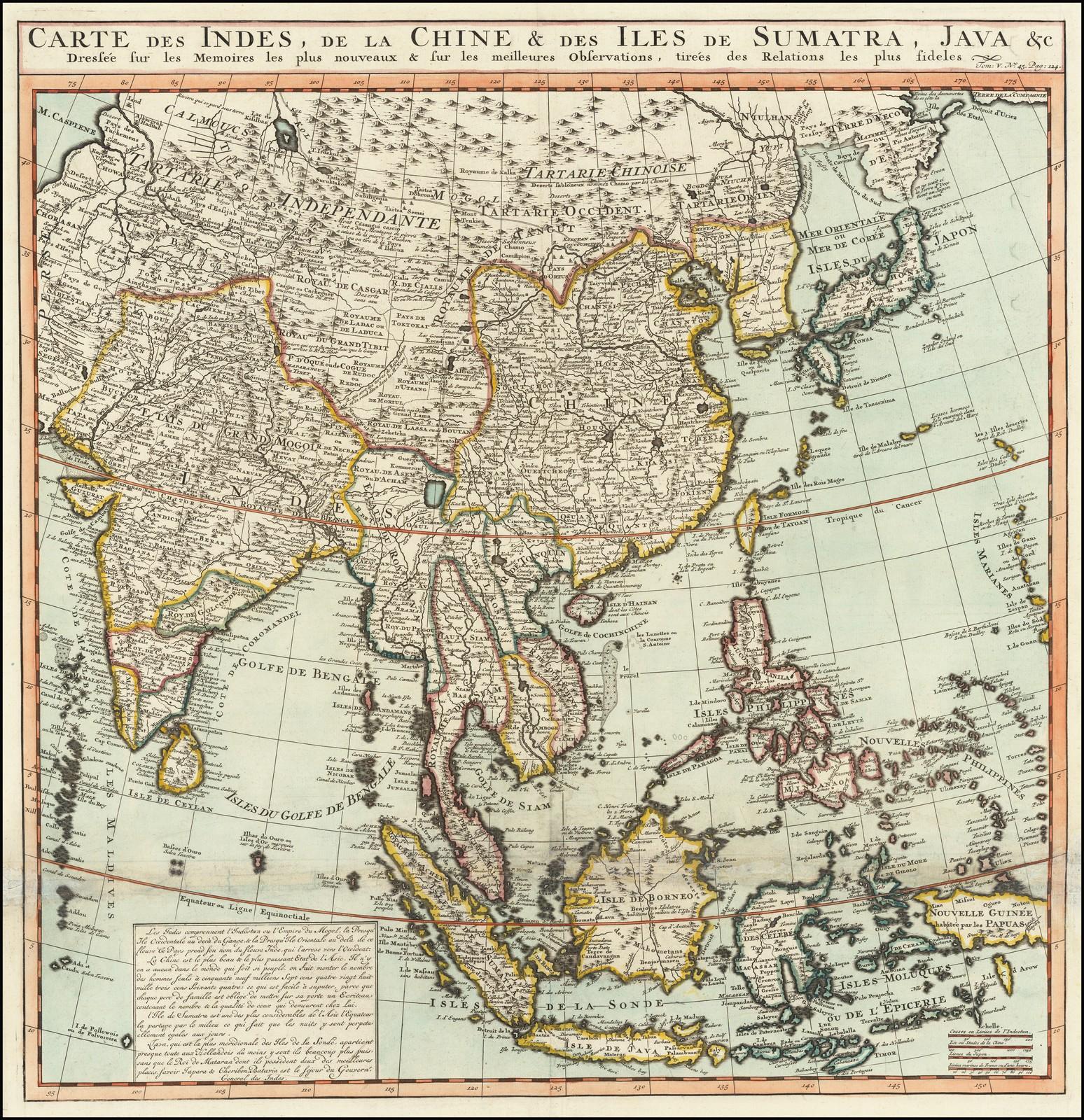 Большая и очень подробная карта Восточной Азии, от Индии и Индийского океана на западе до Японии, Кореи и Филиппин