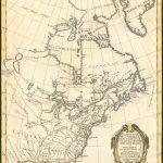 Декоративная карта Северной Америки Ригоберта Бонна, опубликованная в 1774 году