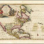 Хороший пример карты Северной Америки Вандера Аа, основанной на карте Гийома де Л'Иля 1700 года