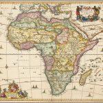 Хороший старый цветной пример декоративной карты Африки Вишера
