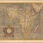 Хороший старый цветной пример наиболее влиятельной карты Африки, опубликованной в конце 16-го века