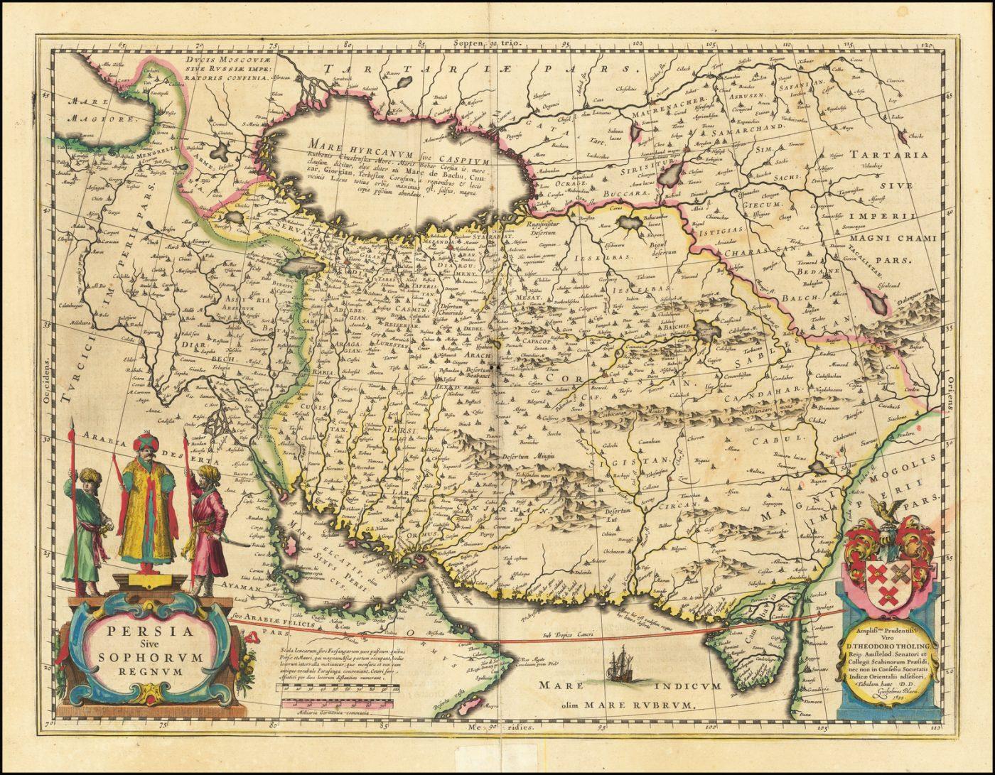 Карта Персии из золотого века голландской картографии