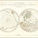 Карта полюсов Сансона, первая двойная Полярная проекция 1657 года
