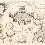 Карта северных полярных областей Винченцо Мария Коронелли, опубликованная в Венеции около 1690 года