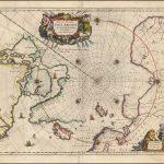Карта северных полярных областей Янссона, с несколькими замечательными картушами