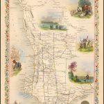Карта Таллиса с изображением Западной Австралии и Суон-Ривер
