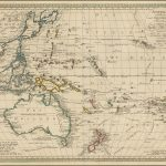 Карта Вальха западной части Тихого океана и Юго-Восточной Азии, впервые опубликованная в Аугсбурге в 1802 году