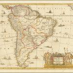Карта Южной Америки компании Valk & Schenk 1690 года