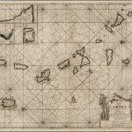 Морская карта Ван Кельна изображающая Малые Антильские острова и Карибский бассейн