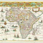 Обширная карта Африканского континента Блау, самая культовая карта Африки XVII века