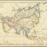 """Очень редкая русскоязычная карта """"Азия"""", изданная в Санкт-Петербурге в 1836 году"""