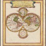 Оригинальная карта мира Боденера 1704 года
