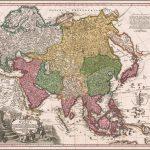 Первая карта Азии Иоганна Кристофа Хоманна