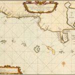 Первая подробная морская карта венесуэльской береговой линии, издание 1675 года