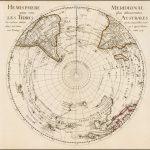 Первое издание важной карты Южного полушария де Л'Иля, впервые опубликованной в 1714 году