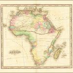 Первое состояние карты Африки Генри Шенка Таннера из американского Атласа