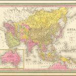 Подробная карта Азии, включая часть Полинезии и часть Австралии