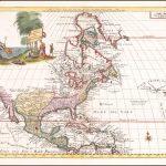 Поразительная карта Северной Америки, основанная на карте де Л'Иза