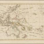 Прекрасная карта Океании, выпущенная вскоре после путешествия Крузенштерна в этот регион