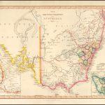 Прекрасная карта Юго-Восточной Австралии, иллюстрирующая британские колонии на континенте