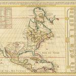 Привлекательная карта Северной Америки, основанная на очень влиятельной карте де Л'Иля 1700 года