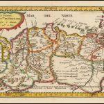Ранняя карта Николаса Сансона - от Перу и Колумбии на западе до Венесуэлы